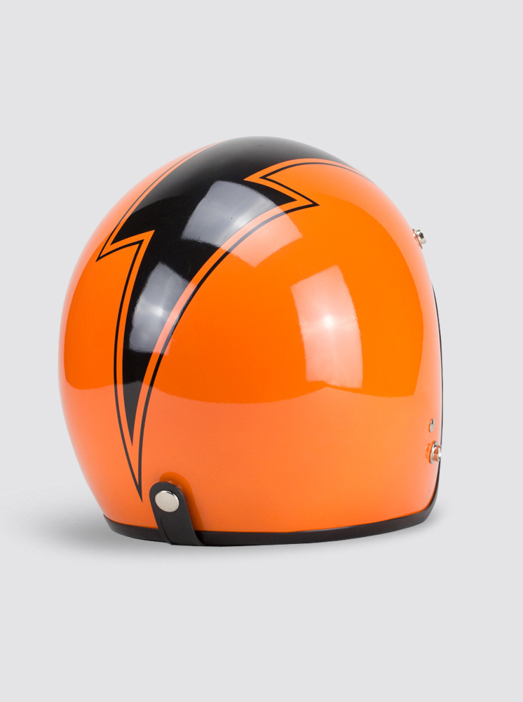 Lighting Bolt Orange Helm...