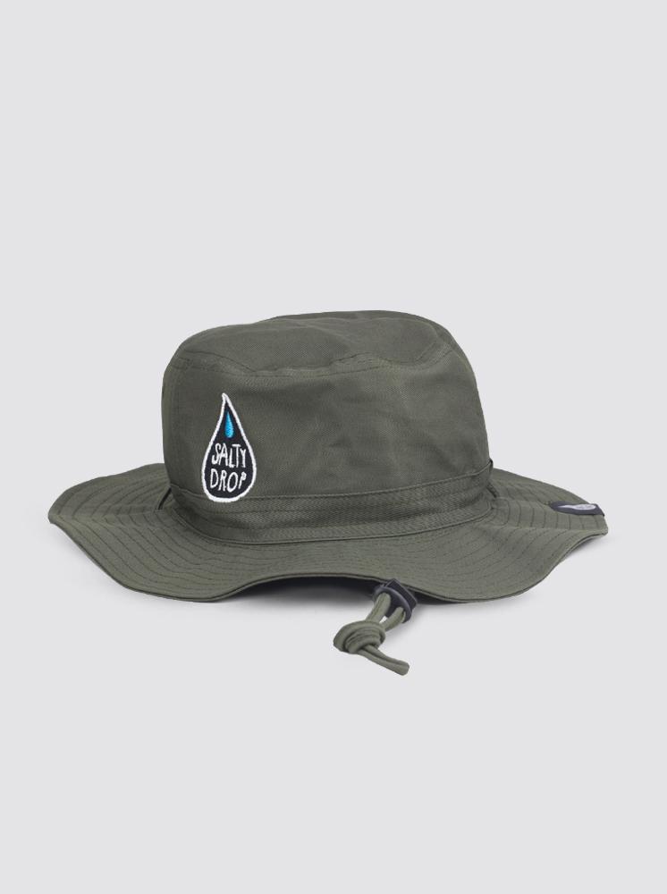 98a7b31deeb44 Safari Hats  Dark Green Salty Drop Safari