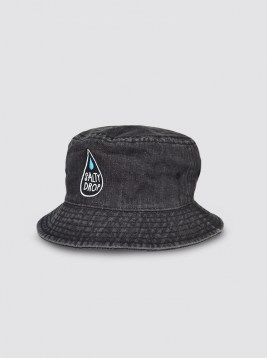 CP79_LOGO FADED BLACK JEANS BUCKET HAT